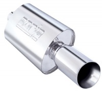 "40057  THUMPER - 2.25"" INLET PIPE - SINGLE 4"" ROUND TIP - BOOMER MUFFLER"